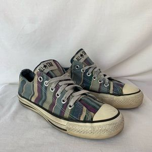 Vintage Striped Converse All Star Size 4.5 in Boy